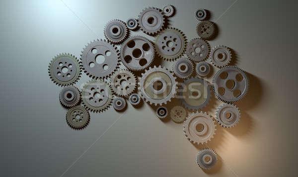 Australian Cogwheel Machine Stock photo © albund