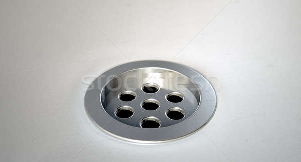 Round Plug Hole Closeup Stock photo © albund