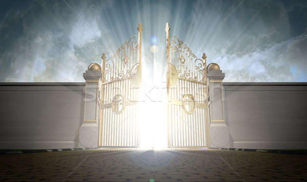 Heavens Gates Opening Stock photo © albund