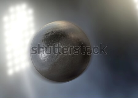 Shotput In Night Stadium Stock photo © albund