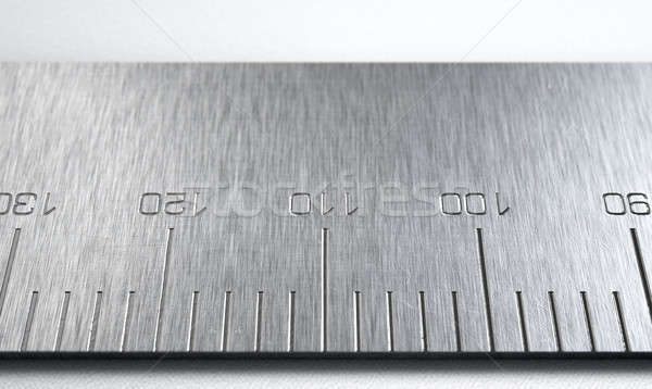 Steel Ruler Closeup Stock photo © albund