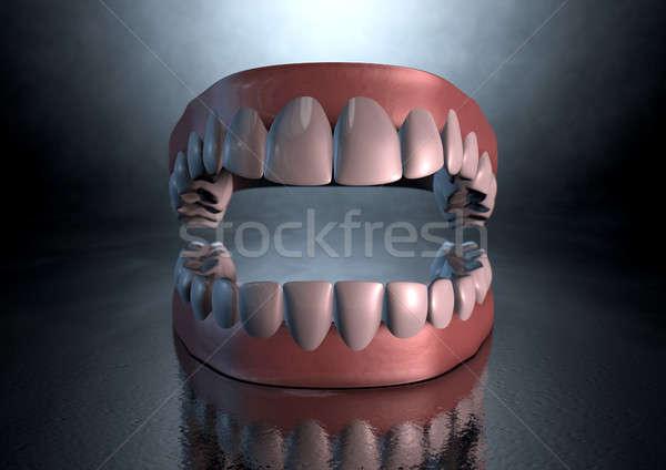 Raccapricciante denti sinistro drammatico abbassare umani Foto d'archivio © albund