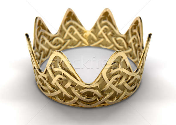 Golden Crown With Thorn Patterns Stock photo © albund