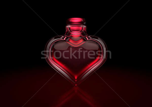 Love Potion Heart Bottle Stock photo © albund