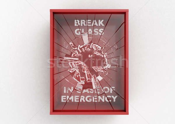 Break In Case Of Emergency Red Box Stock photo © albund