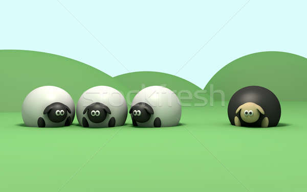 Black Sheep Stock photo © albund