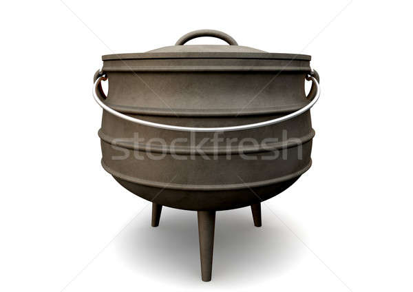South African Potjie Pot Front Stock photo © albund