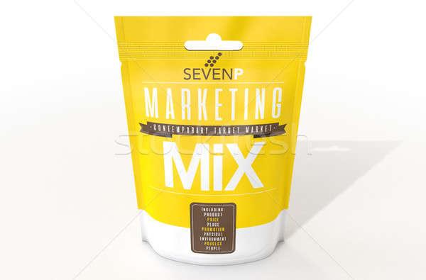Foto d'archivio: Marketing · pacchetto · prodotto · up · sette