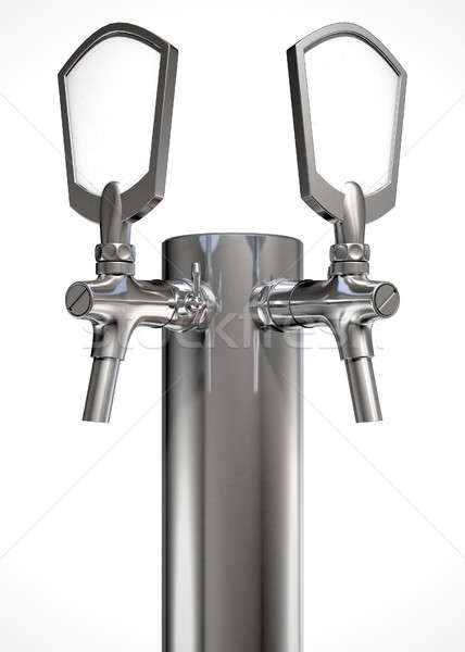 Beer Tap Dual Isolated Stock photo © albund
