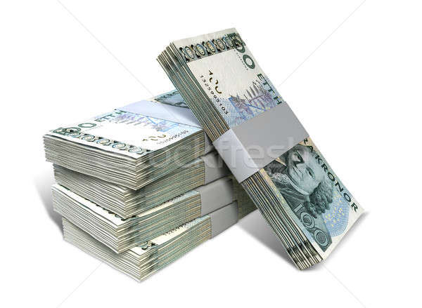 Swedish Krona Notes Bundles Stack Stock photo © albund