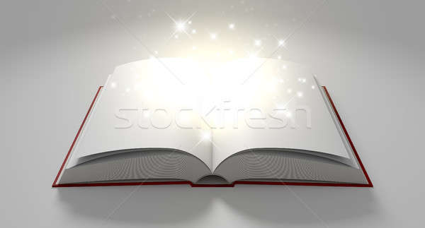 Blank Paged Magical Book Stock photo © albund