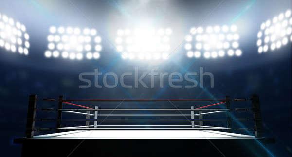 ボクシング リング アリーナ ロープ 光 ボックス ストックフォト © albund