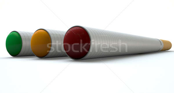 Electronic Cigarette Traffic Light Concept Stock photo © albund