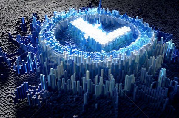 Pixel Litecoin Concept Stock photo © albund