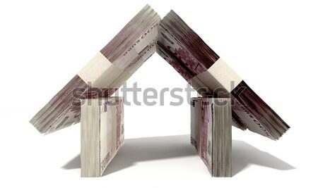 Dollar Notes House Front Stock photo © albund