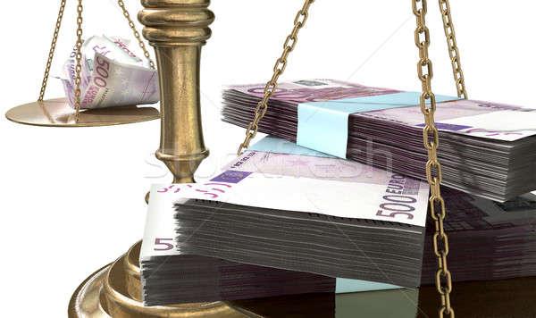 Balança justiça renda lacuna europa velho Foto stock © albund