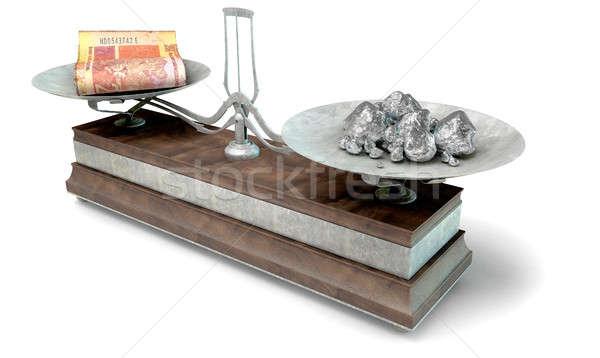 Equilibrio scala confronto vecchio metal legno Foto d'archivio © albund