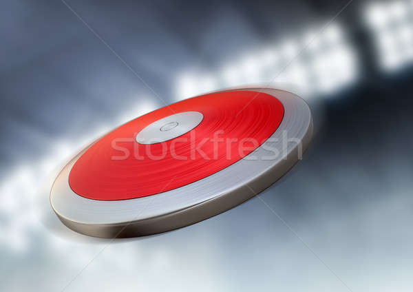 Disk gece stadyum uçan hava genel Stok fotoğraf © albund