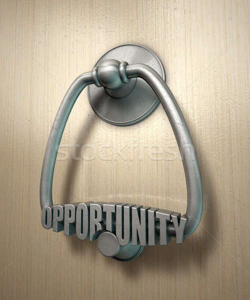 Opportunity Knocks Door Knocker Stock photo © albund