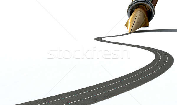 Infra-estrutura caneta estrada macro ver Foto stock © albund