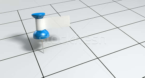 Thumbtack With Blank Label On Generic Calendar Stock photo © albund