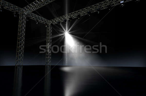 Empty Stage Spotlit Stock photo © albund
