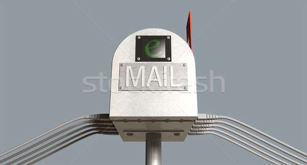 Retro Email Postbox Stock photo © albund