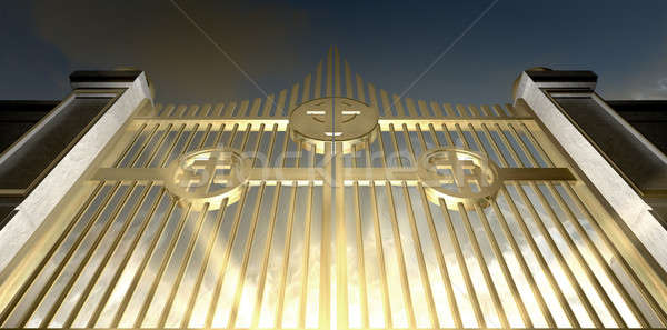 The Golden Pearly Gates Of Heaven Stock photo © albund