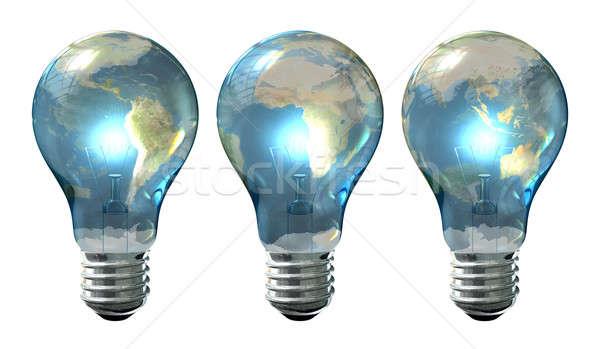 Light Bulb World Globe Series Stock photo © albund