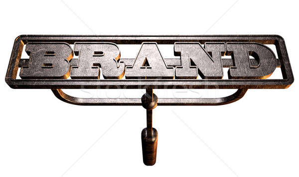 Metal Branding Brand Front Stock photo © albund