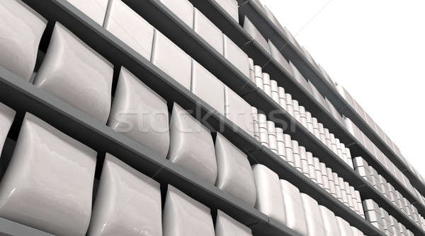 Supermarket Shelves With Generic Products Stock photo © albund