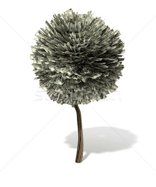 Stylised Money Tree American Dollar Notes Stock photo © albund
