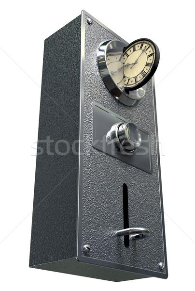 Czas to pieniądz vintage monety metal Zdjęcia stock © albund