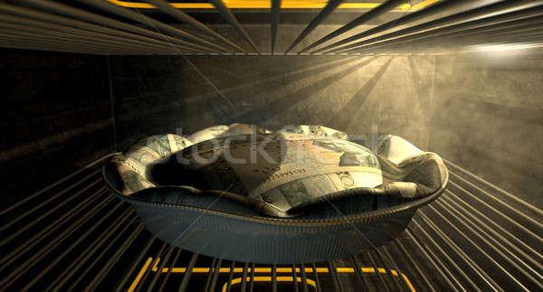 Swedish Kronor Money Pie Baking In The Oven Stock photo © albund