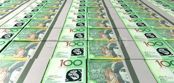 Foto stock: Australiano · dólar · projeto · de · lei · fora · coleção · um
