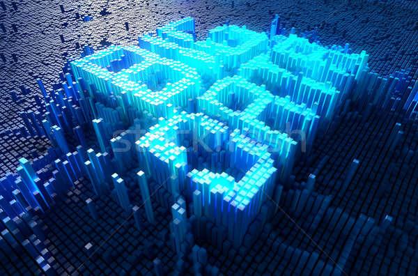 Pixel Big Data Concept Stock photo © albund