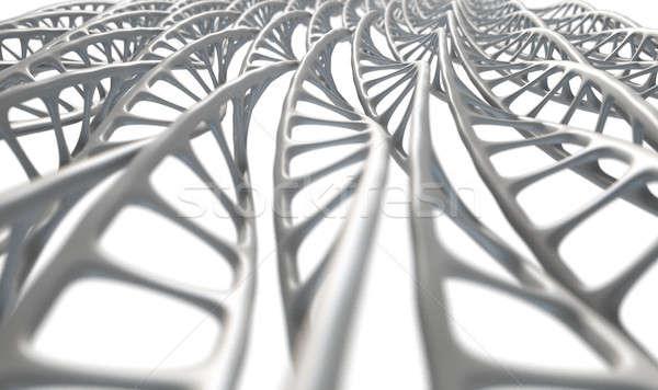 DNA mikro mikroskopijny widoku wzór Zdjęcia stock © albund
