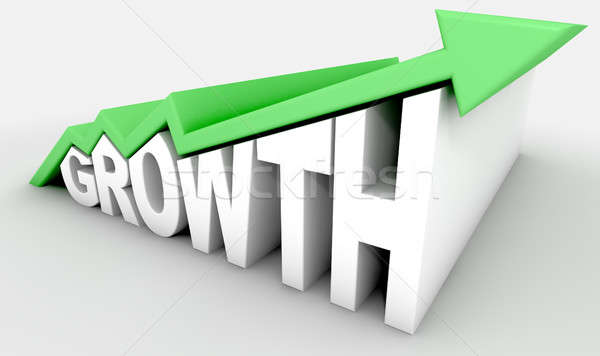 Wachstum Text arrow grünen Trend weiß Stock foto © albund