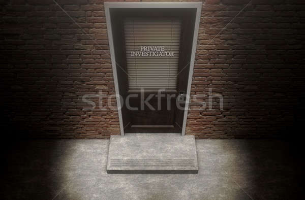 Private Eye Door Outside Stock photo © albund