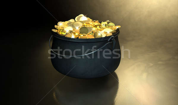 Pot Of Gold Stock photo © albund