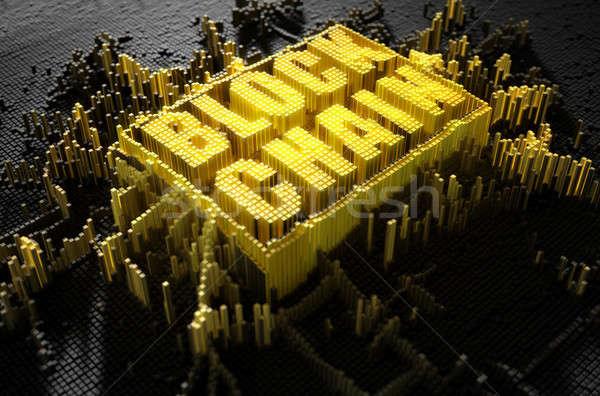 Pixel Block Chain Stock photo © albund