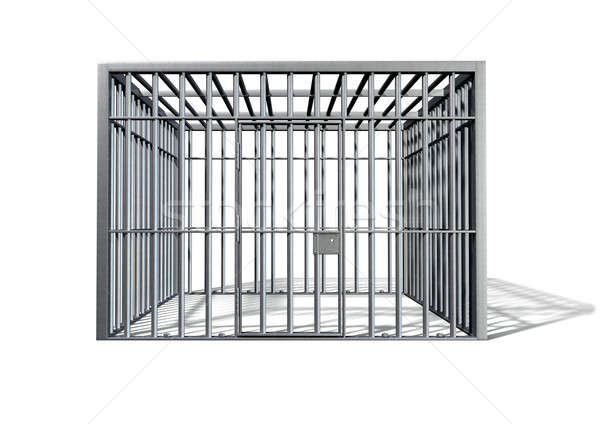 Jail Holding Cell Isolated Front Stock photo © albund