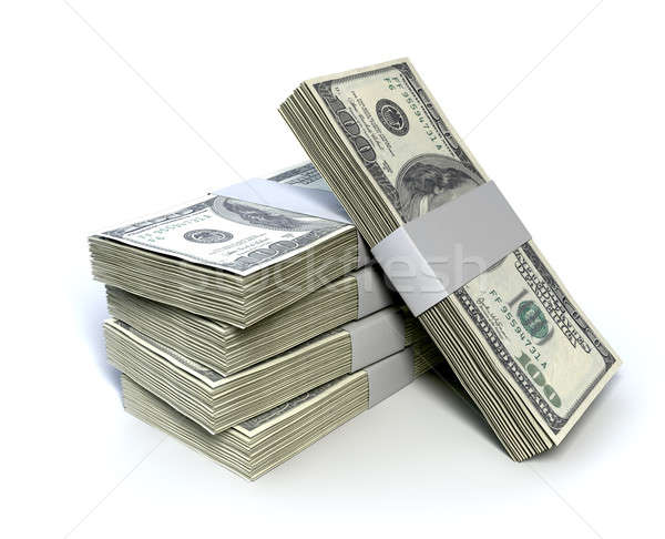 Dollar Bill Bundles Pile  Stock photo © albund