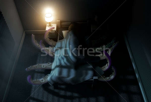The Monster Under The bed Stock photo © albund