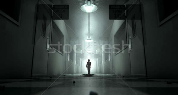Stock photo: Mental Asylum With Ghostly Figure
