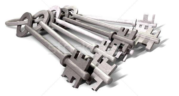 Keys On A Hoop Laying Down Stock photo © albund