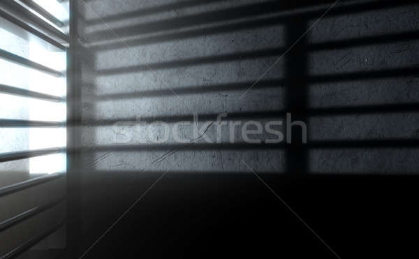 Jail Cell Shadows Stock photo © albund