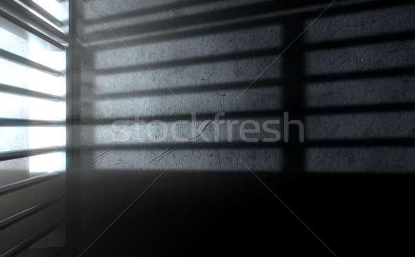 Cela sombras 3d render ver prisão Foto stock © albund