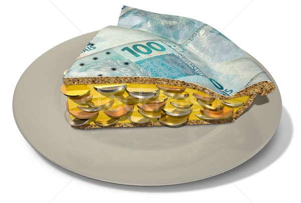 Slice Of Real Money Pie Stock photo © albund