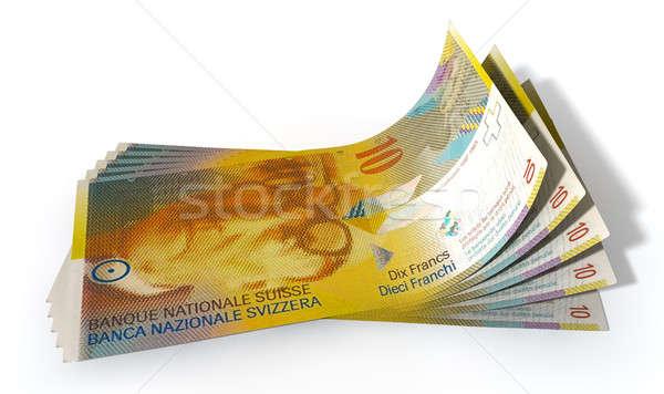 Stock photo: Franc Bank Notes Spread